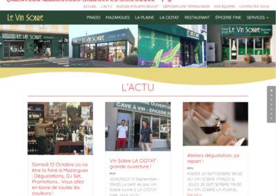 """Site web vitrine avec actualité - <a href=""""/selection-creation-site-web/"""">Voir une sélection de nos travaux</a>"""